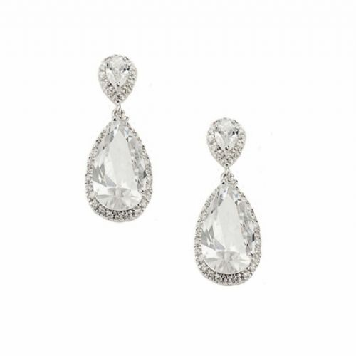 7bc25c024 Crystal Wedding Earrings, Pearl Bridal Earrings